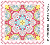 decorative colorful ornament on ... | Shutterstock .eps vector #1246676482