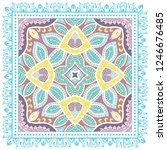 decorative colorful ornament on ... | Shutterstock .eps vector #1246676485