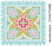 decorative colorful ornament on ... | Shutterstock .eps vector #1246676488