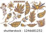 paisley ethnic set. indian... | Shutterstock .eps vector #1246681252