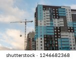 industrial construction tower... | Shutterstock . vector #1246682368