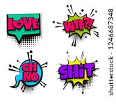 set lettering. comics book... | Shutterstock . vector #1246687348