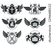 heraldic signs  elements ... | Shutterstock .eps vector #1246688122