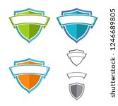 flat shield with ribbon... | Shutterstock .eps vector #1246689805