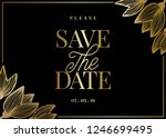 save the date template with... | Shutterstock .eps vector #1246699495