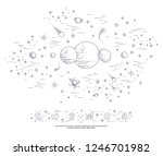 fantastic undiscovered galaxy... | Shutterstock .eps vector #1246701982