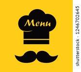 chef hat and mustache. menu... | Shutterstock .eps vector #1246702645