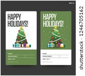 happy holidays id tag card with ... | Shutterstock .eps vector #1246705162