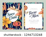 botanical wedding invitation... | Shutterstock .eps vector #1246713268