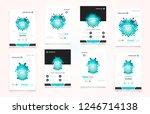 abstract vector business... | Shutterstock .eps vector #1246714138