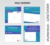 set cover template. information ... | Shutterstock .eps vector #1246724305