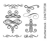 decorative monograms and... | Shutterstock .eps vector #1246733728