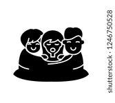 love triangle black icon ... | Shutterstock .eps vector #1246750528