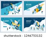 website template landing page... | Shutterstock .eps vector #1246753132