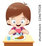 illustration of cartoon girl... | Shutterstock .eps vector #124675528