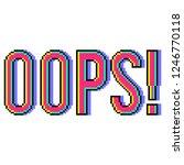 pixel art oops text detailed... | Shutterstock .eps vector #1246770118
