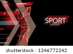 modern poster for sports. golf... | Shutterstock .eps vector #1246772242