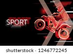 modern poster for sports. atv... | Shutterstock .eps vector #1246772245