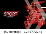 modern poster for sports. atv... | Shutterstock .eps vector #1246772248