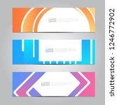 vector abstract design banner... | Shutterstock .eps vector #1246772902