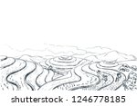 rice terrace fields  vector... | Shutterstock .eps vector #1246778185