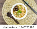 shrimp wonton with carrot heart ... | Shutterstock . vector #1246779982