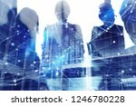 silhouette of business people... | Shutterstock . vector #1246780228