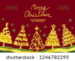 background design for christmas ... | Shutterstock .eps vector #1246782295
