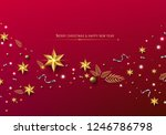 red christmas background with... | Shutterstock .eps vector #1246786798