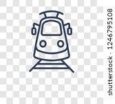 light rail icon. trendy light... | Shutterstock .eps vector #1246795108