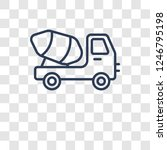 cement truck icon. trendy... | Shutterstock .eps vector #1246795198
