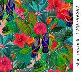 summer exotic seamless pattern. ... | Shutterstock . vector #1246796362