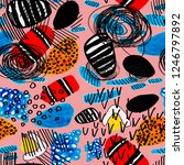 creative seamless pattern with... | Shutterstock . vector #1246797892
