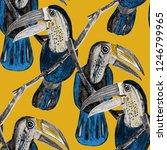 tropical birds seamless pattern.... | Shutterstock . vector #1246799965