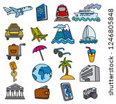 set of travel concept icons of... | Shutterstock .eps vector #1246805848