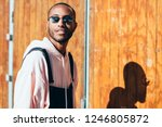 young black man wearing casual... | Shutterstock . vector #1246805872