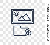 add photos icon. trendy linear... | Shutterstock .eps vector #1246810582
