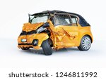 car accident. generic cars...   Shutterstock . vector #1246811992