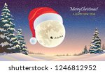 the moon wearing the christmas...   Shutterstock .eps vector #1246812952