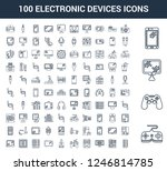 100 electronic devices... | Shutterstock .eps vector #1246814785
