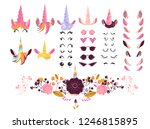 unicorn face creation kit...   Shutterstock .eps vector #1246815895