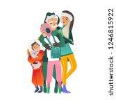 vector illustration of hugging... | Shutterstock .eps vector #1246815922