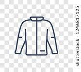 jogging jacket icon. trendy... | Shutterstock .eps vector #1246817125