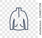 fleece icon. trendy linear... | Shutterstock .eps vector #1246817158