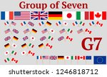 group of seven. set of flags of ... | Shutterstock .eps vector #1246818712