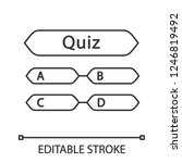 quiz question linear icon.... | Shutterstock .eps vector #1246819492