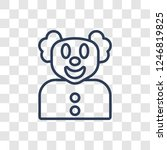 clown icon. trendy linear clown ...   Shutterstock .eps vector #1246819825