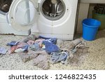 very old washing machine and... | Shutterstock . vector #1246822435