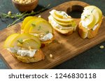 antipasti snacks for wine.... | Shutterstock . vector #1246830118