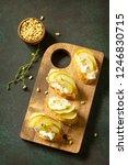 antipasti snacks for wine.... | Shutterstock . vector #1246830715